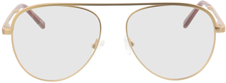 Picture of glasses model Tindari-matt gold in angle 0