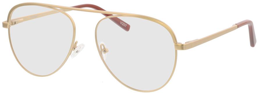 Picture of glasses model Tindari-matt gold in angle 330