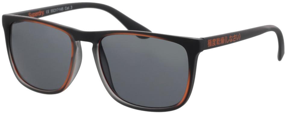 Picture of glasses model Superdry SDS Stockholm 104 black/orange 55-17 in angle 330