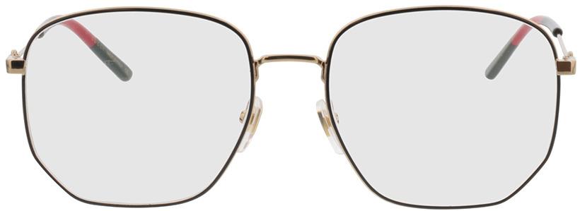 Picture of glasses model Gucci GG0396O-001 56-18 in angle 0