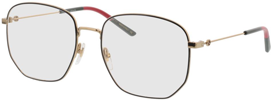 Picture of glasses model Gucci GG0396O-001 56-18 in angle 330