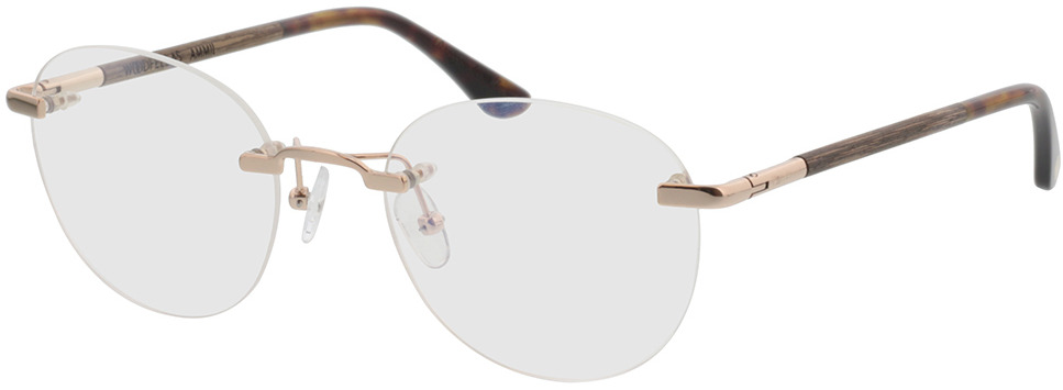 Picture of glasses model Wood Fellas Optical Ammil curled/gold shiny 52-20 in angle 330