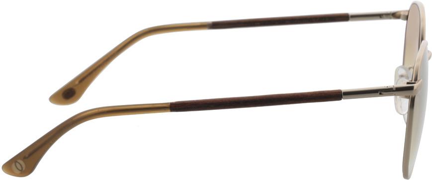 Picture of glasses model Wood Fellas Sunglasses Hub macassar/gold 53-19 in angle 90