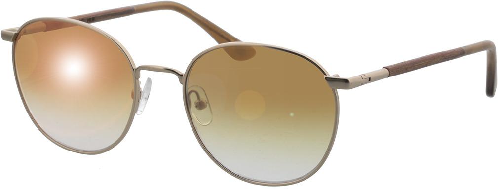 Picture of glasses model Wood Fellas Sunglasses Hub macassar/gold 53-19 in angle 330
