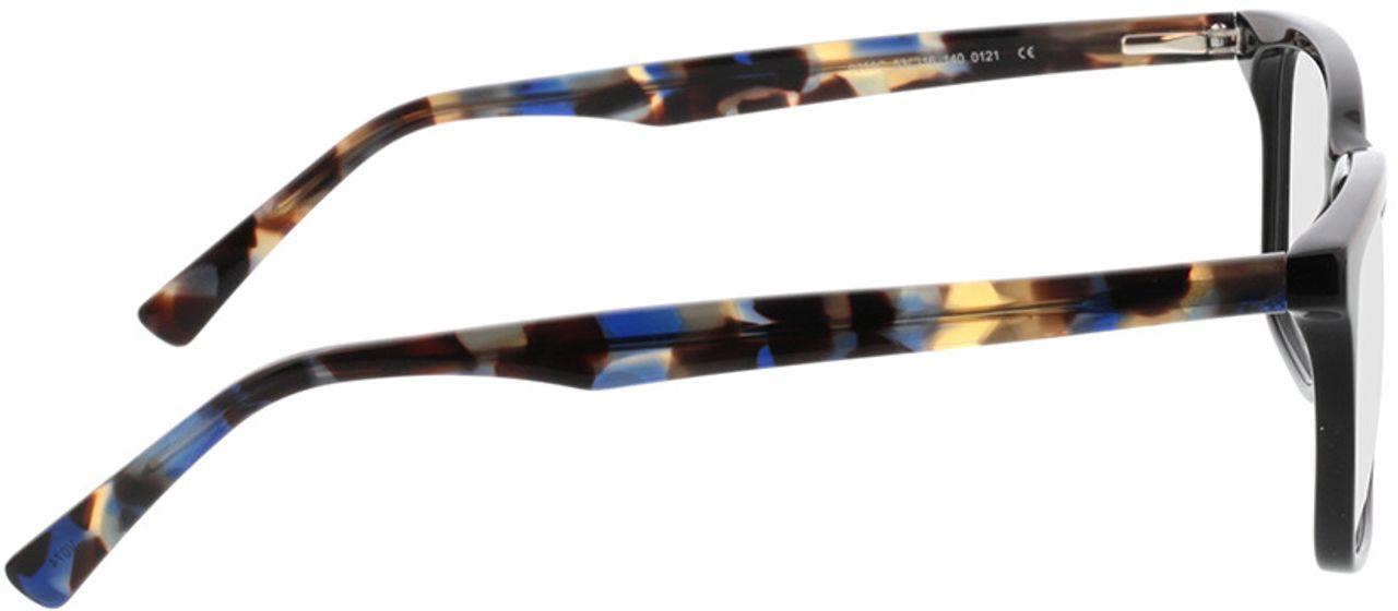 Picture of glasses model Balera-schwarz/blau-meliert in angle 90
