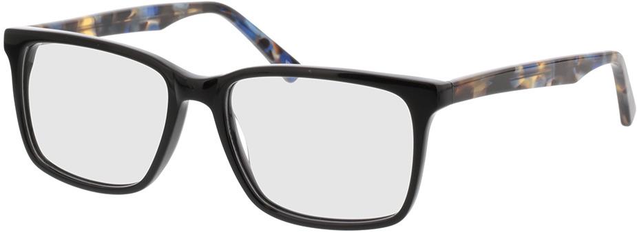 Picture of glasses model Balera-schwarz/blau-meliert in angle 330