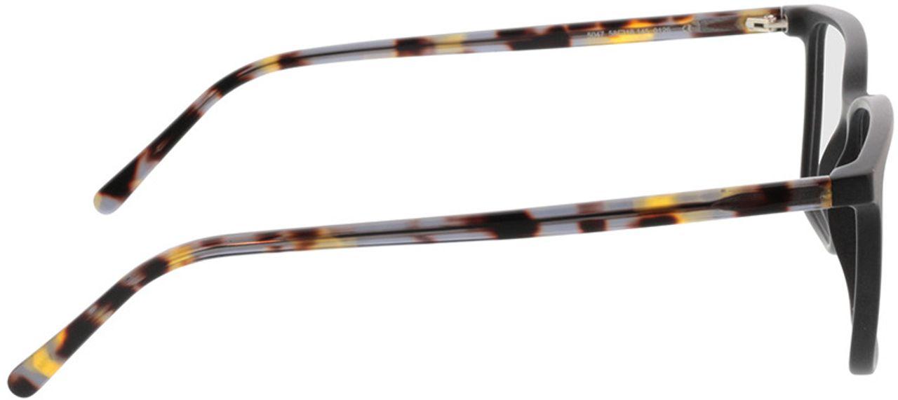 Picture of glasses model Tegea-matt schwarz/grau-meliert in angle 90