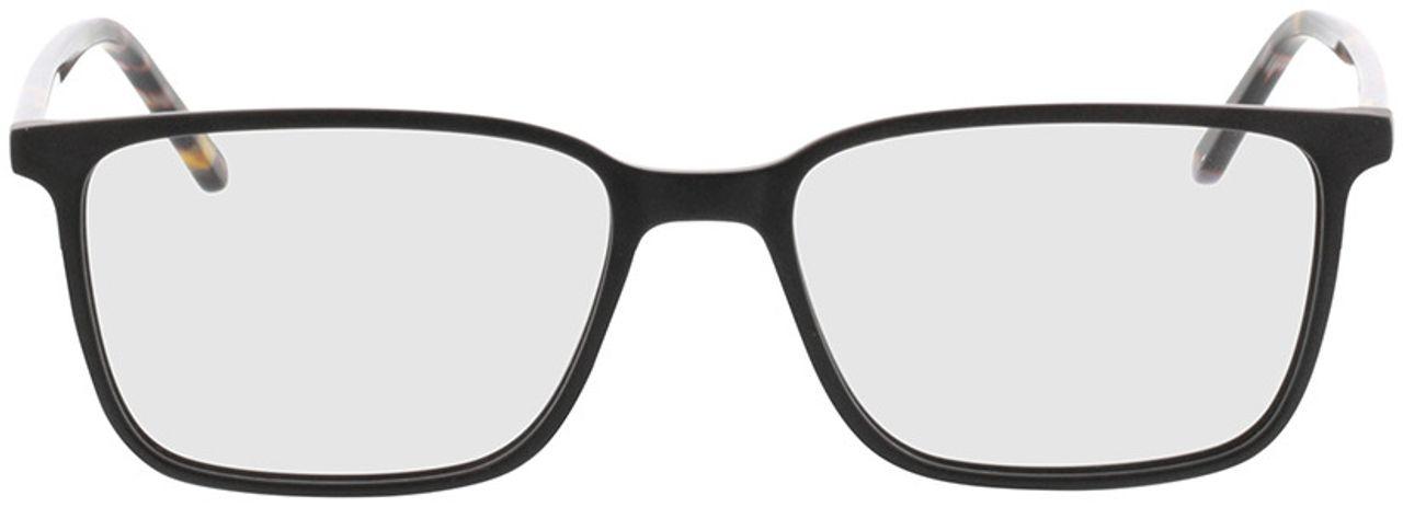 Picture of glasses model Tegea-matt schwarz/grau-meliert in angle 0
