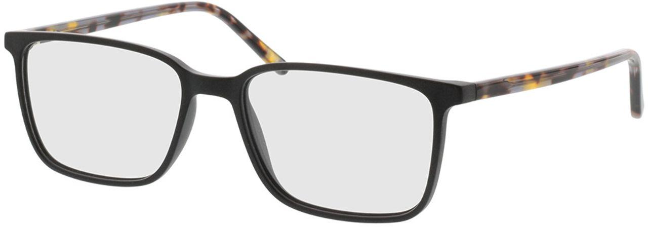 Picture of glasses model Tegea-matt schwarz/grau-meliert in angle 330