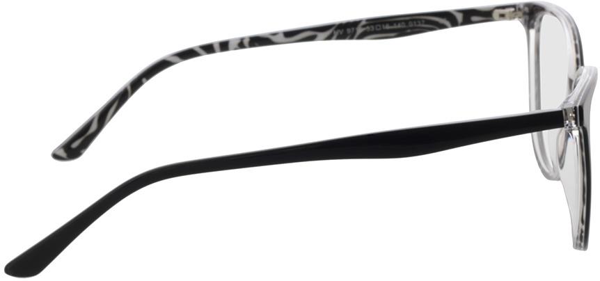 Picture of glasses model Kimba-schwarz/zebra in angle 90