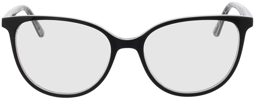 Picture of glasses model Kimba-schwarz/zebra in angle 0