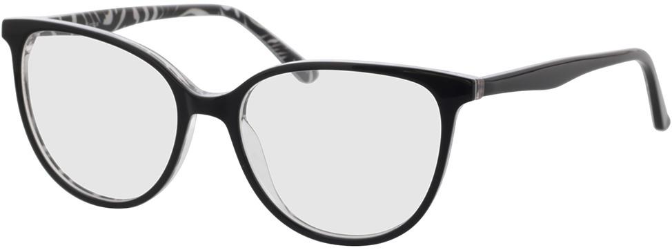 Picture of glasses model Kimba-schwarz/zebra in angle 330