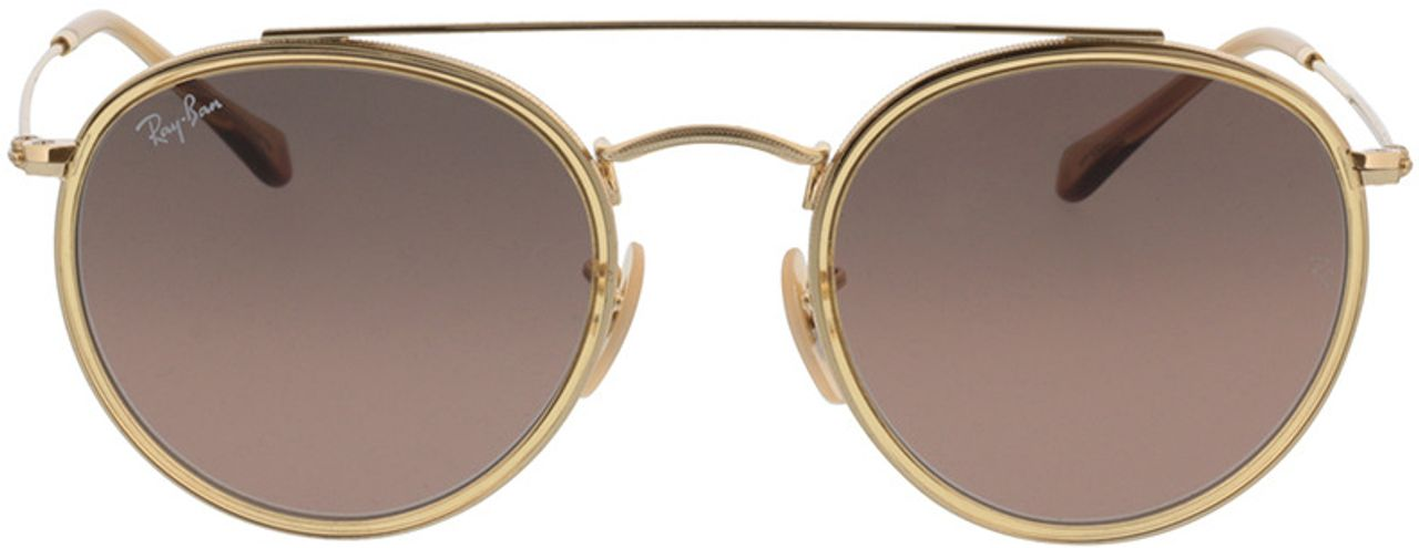 Picture of glasses model Ray-Ban Round Double Bridge RB3647N 912443 51-22 in angle 0