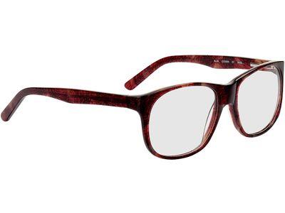Brille Newcastle-dunkelrot-meliert