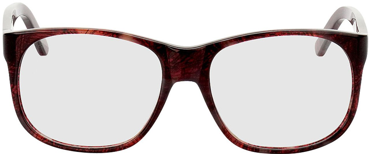 Picture of glasses model Newcastle-dunkelrot-meliert in angle 0