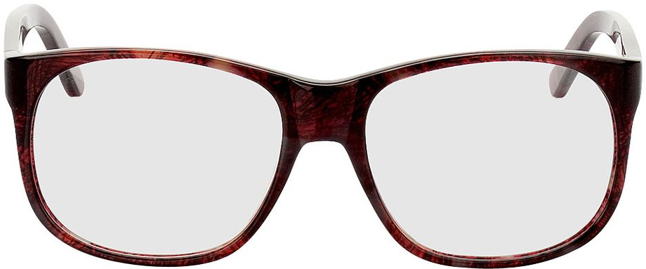 Picture of glasses model Newcastle-red-mottled in angle 0