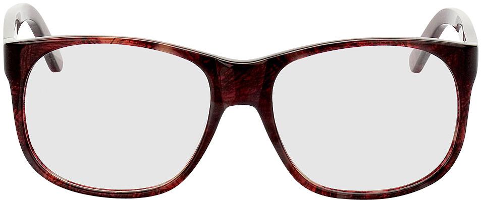 Picture of glasses model Newcastle donker-rood/gevlekt in angle 0