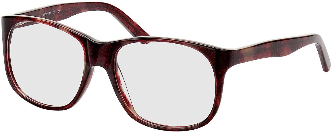 Picture of glasses model Newcastle donker-rood/gevlekt in angle 330