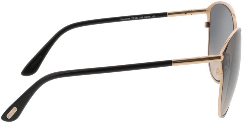 Picture of glasses model Tom Ford FT0320 28B 59 15 in angle 90