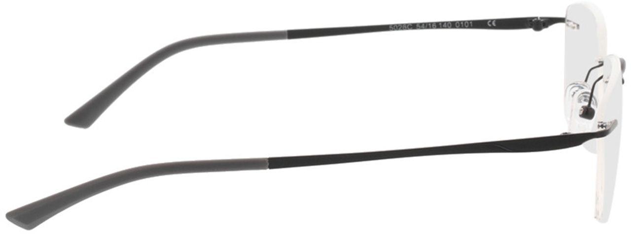 Picture of glasses model Livius-matt schwarz in angle 90