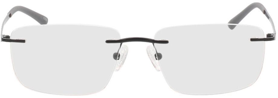 Picture of glasses model Livius-matt schwarz in angle 0