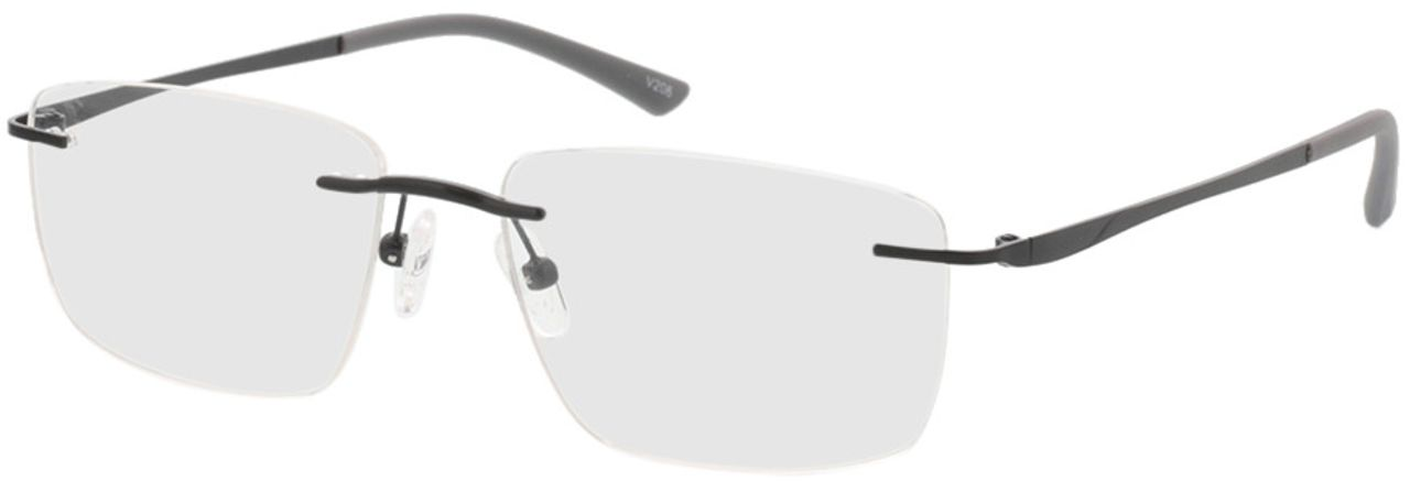Picture of glasses model Livius-matt schwarz in angle 330