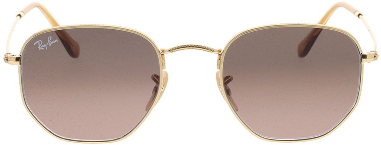 Picture of glasses model Ray-Ban Hexagonal Flat Lenses RB3548N 912443 51-21 in angle 0