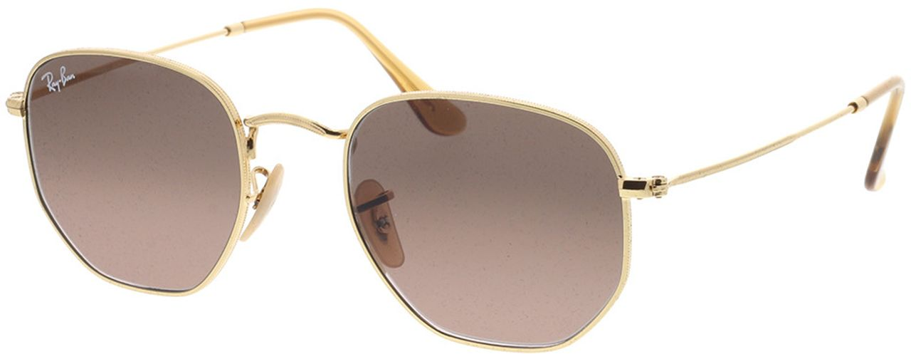 Picture of glasses model Ray-Ban Hexagonal Flat Lenses RB3548N 912443 51-21 in angle 330