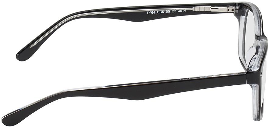 Picture of glasses model Frankfurt-noir/transparent in angle 90