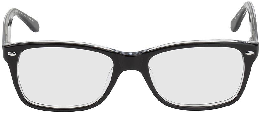 Picture of glasses model Frankfurt-noir/transparent in angle 0
