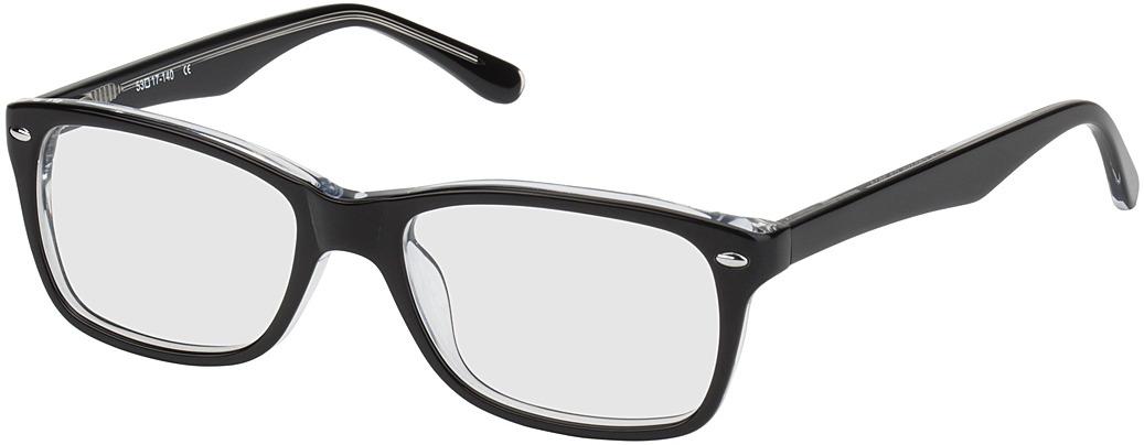 Picture of glasses model Frankfurt-noir/transparent in angle 330