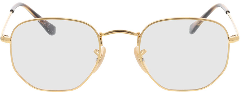 Picture of glasses model Ray-Ban Hexagonal RX6448 2500 48-21 in angle 0