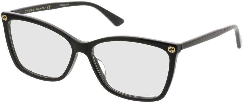 Picture of glasses model Gucci GG0025O-001 56-14 in angle 330