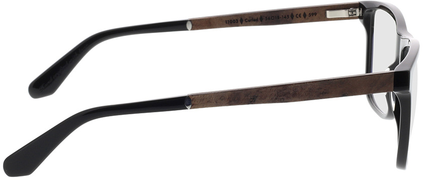 Picture of glasses model Wood Fellas Optical Wildenwart frisado/preto 56-18 in angle 90
