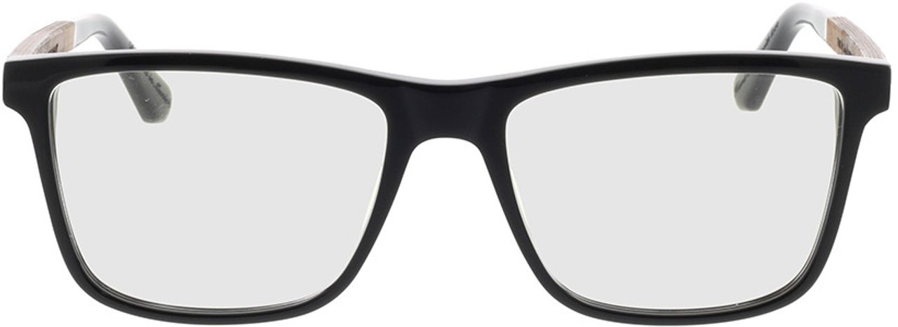 Picture of glasses model Wood Fellas Optical Wildenwart curled/black 56-18 in angle 0