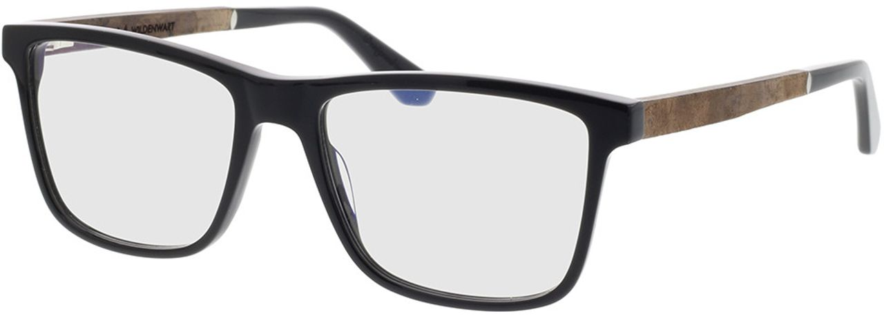 Picture of glasses model Wood Fellas Optical Wildenwart curled/black 56-18 in angle 330
