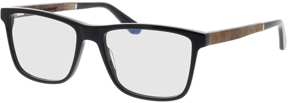 Picture of glasses model Wood Fellas Optical Wildenwart frisado/preto 56-18 in angle 330