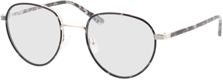 Picture of glasses model Miles-grau-meliert in angle 330