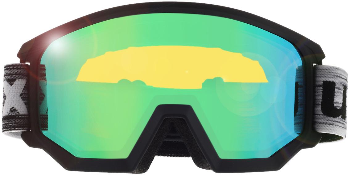 Picture of glasses model Uvex Skibrille Athletic FM Black Matt/Mirror Green in angle 0