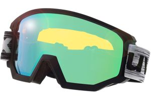 Skibrille Athletic FM Black Matt/Mirror Green