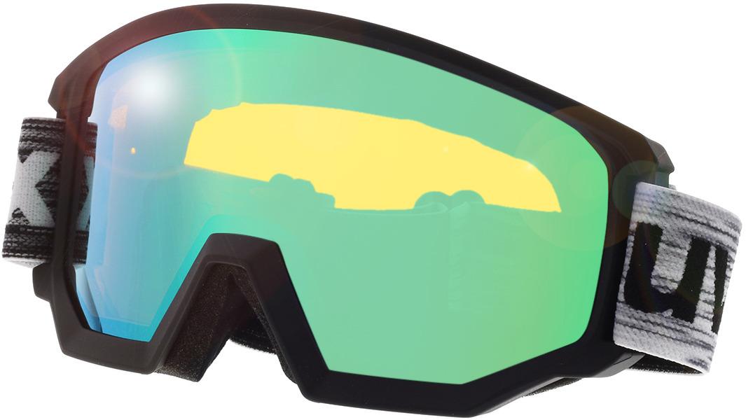 Picture of glasses model Uvex Skibrille Athletic FM Black Matt/Mirror Green in angle 330