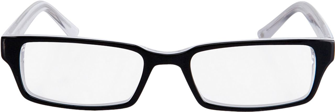 Picture of glasses model Capuno-black-white in angle 0