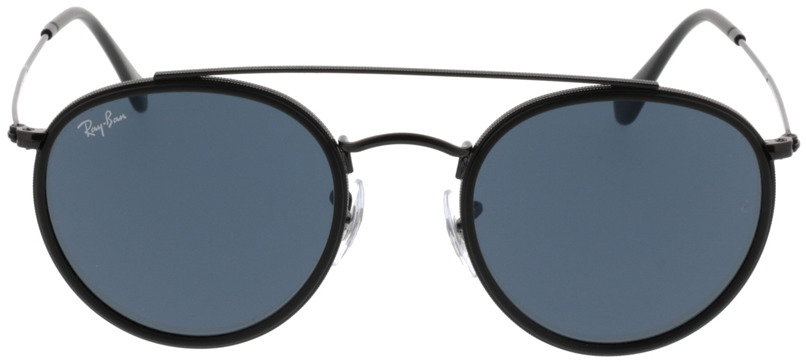 Picture of glasses model Ray-Ban Round Double Bridge RB3647N 002/R5 51-22 in angle 0