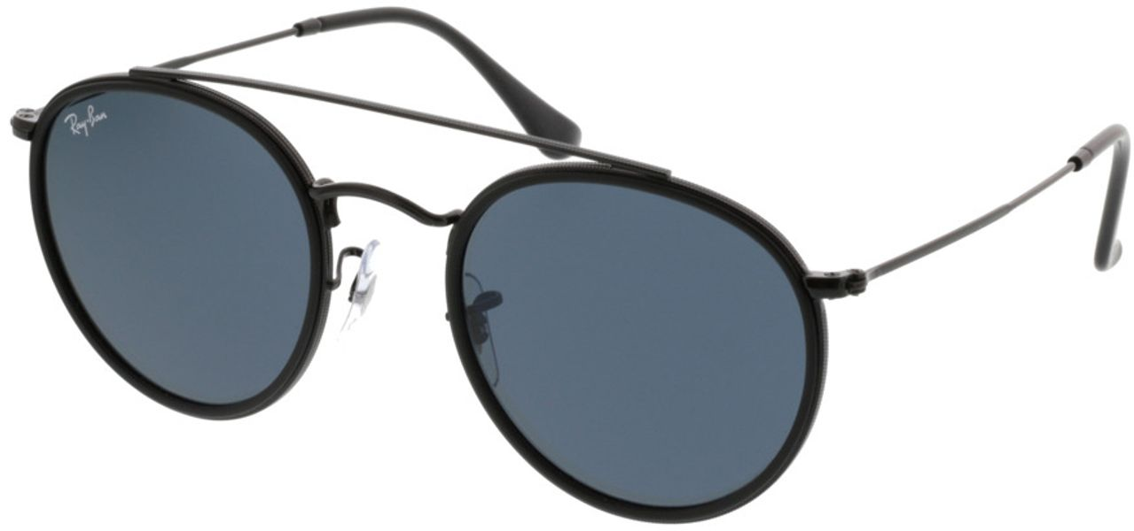 Picture of glasses model Ray-Ban Round Double Bridge RB3647N 002/R5 51-22 in angle 330