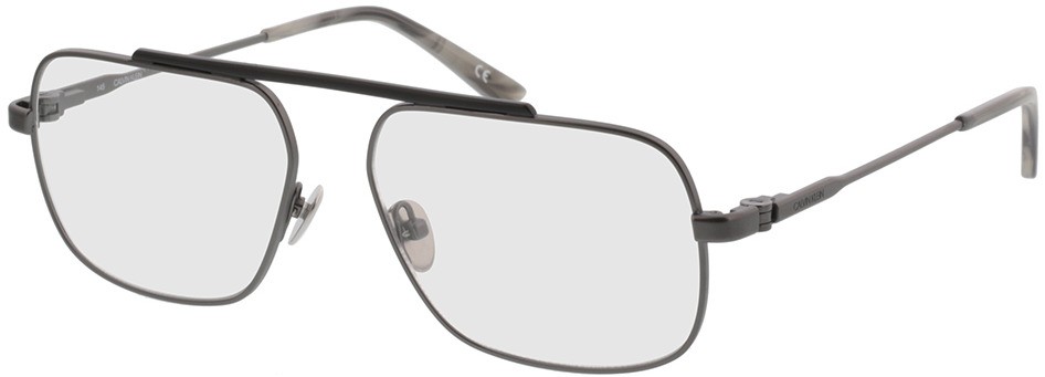 Picture of glasses model Calvin Klein CK38078 008 55-15 in angle 330