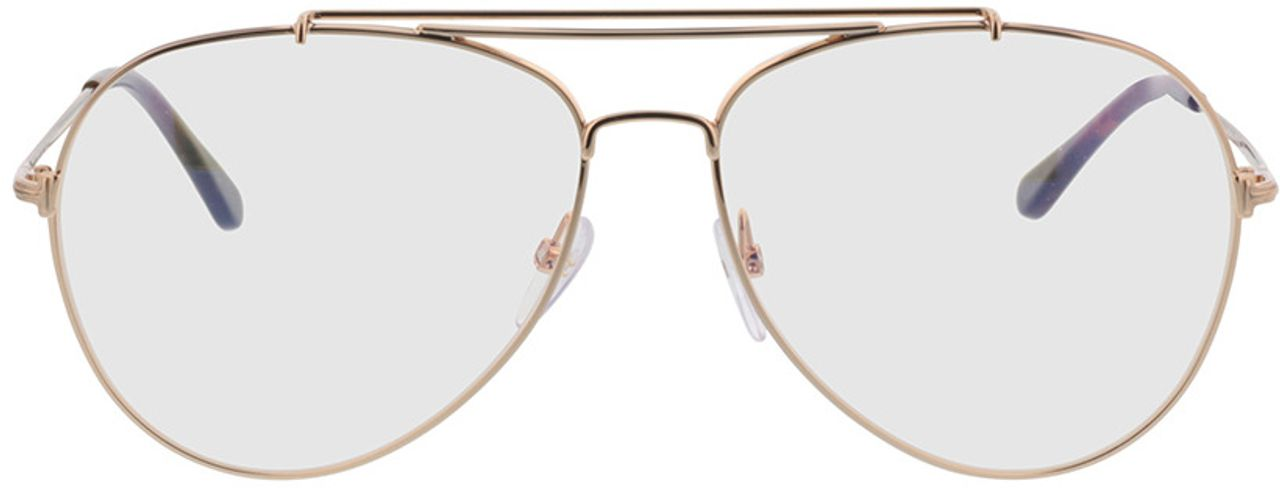 Picture of glasses model Tom Ford FT0497 028 in angle 0