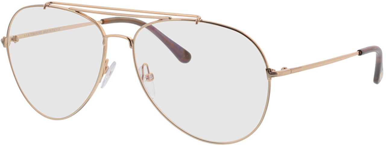 Picture of glasses model Tom Ford FT0497 028 in angle 330