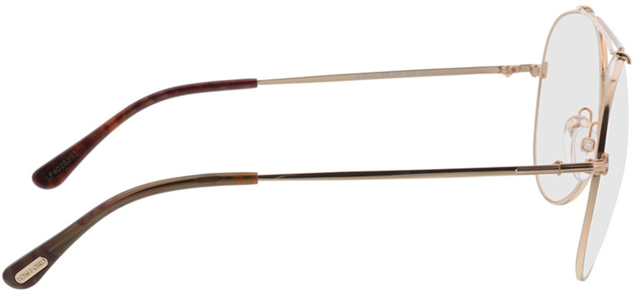 Picture of glasses model Tom Ford FT0497 028 in angle 90
