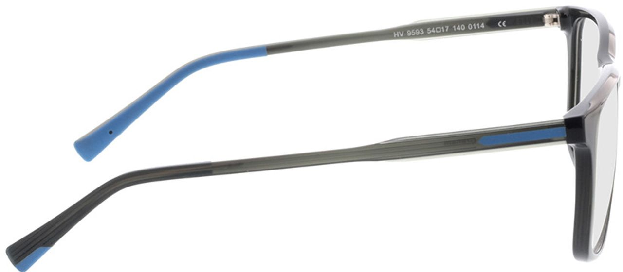 Picture of glasses model Graham-schwarz/grau in angle 90