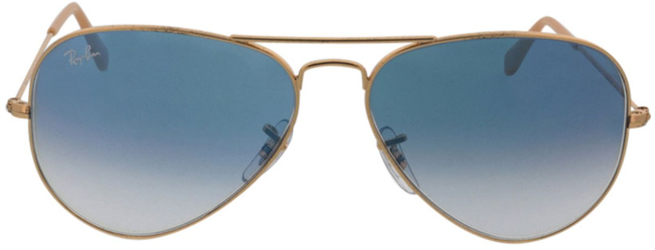 Picture of glasses model Ray-Ban Aviator RB3025 001/3F 58-14 in angle 0